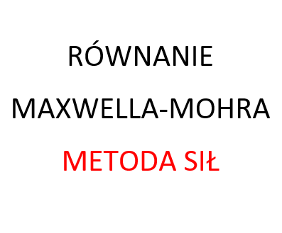 Równanie Maxwella-Mohra metoda sił