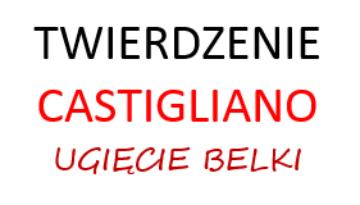 twierdzenie castigliano ugięcie belki